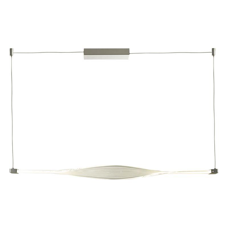 Dar-TWI0132 - Twist - LED Twist Acrylic & Silver Single Bar Pendant
