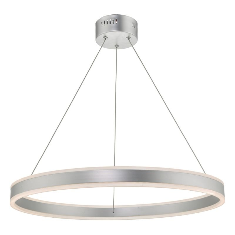 Dar-TYB0132 - Tybalt - LED Silver & Acrylic Hanging Pendant