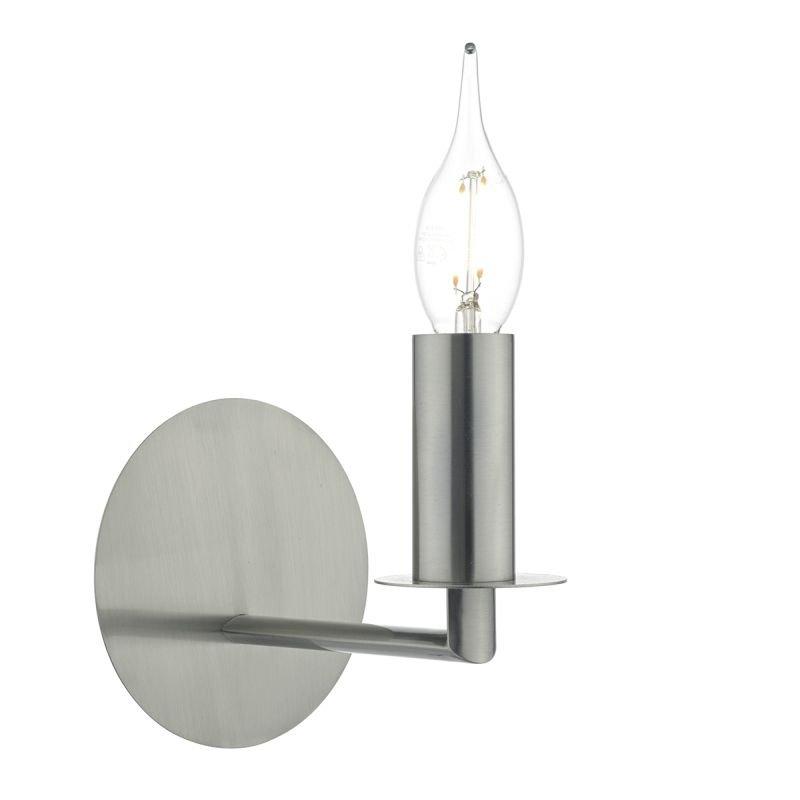 Dar-TYL0738 - Tyler - Satin Nickel Single Wall Lamp