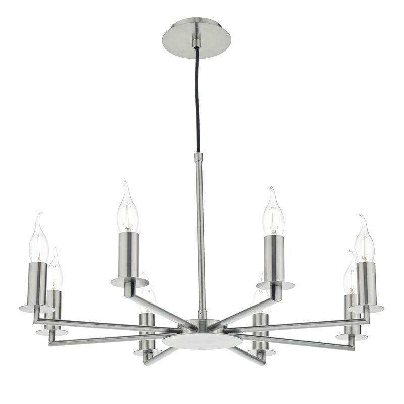 Dar-TYL0838 - Tyler - Decorative Satin Nickel 8 Light Centre Fitting