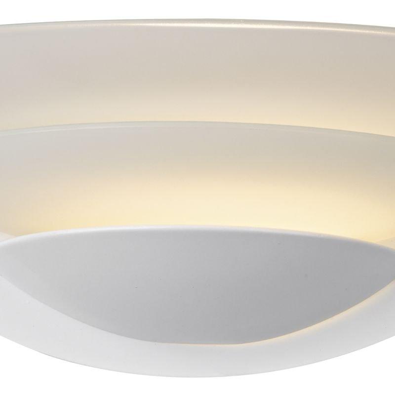 Dar-UNA072 - Una - White Trim with Opal Glass Wall Lamp