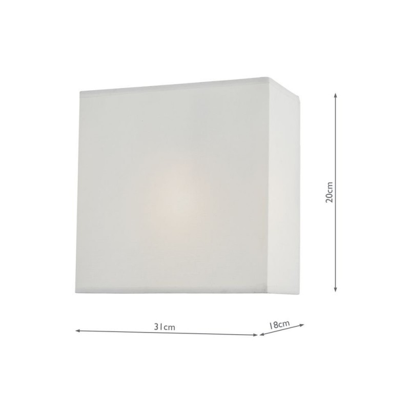 Wisebuys-URM0715 - Urmi - White Faux Silk Shade Wall Lamp