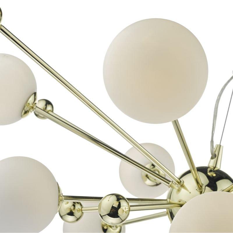 Dar-URS2335 - Ursa - Gold With Opal Globe Glass 10 Light Centre Fitting