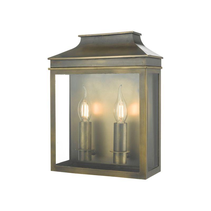 Dar-VAP5045 - Vapour - Outdoor Brass Coach Lantern Double Wall Light