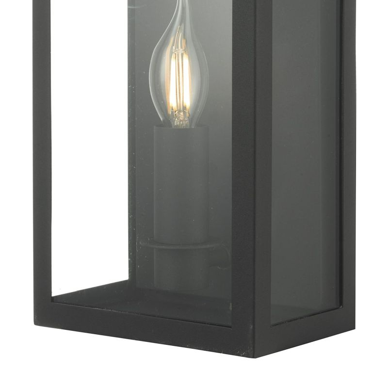 Dar-VAP5222 - Vapour - Outdoor Black Coach Lantern Single Wall Light