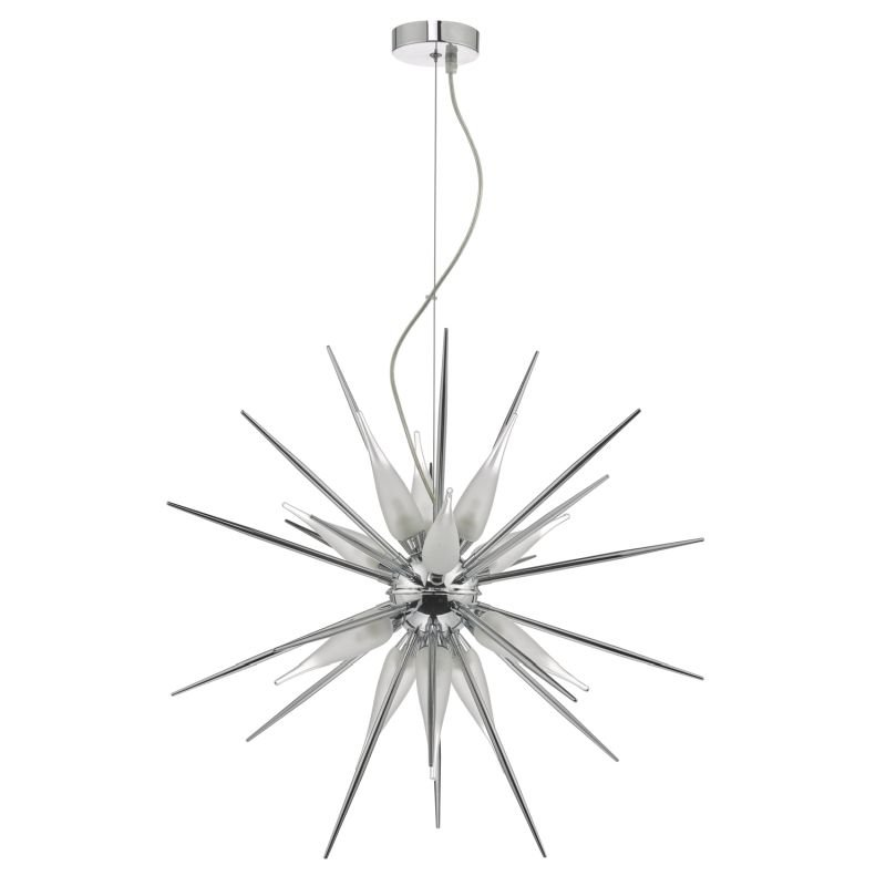 Dar-VAS1250 - Vasiliy - Polished Chrome & Glass 12 Light Centre Fitting