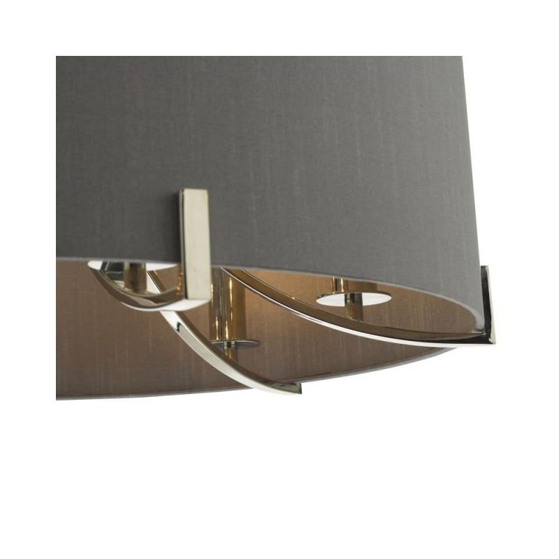 Dar-VEY0639 - Veyron - Grey & Polished Nickel 6 Light Pendant