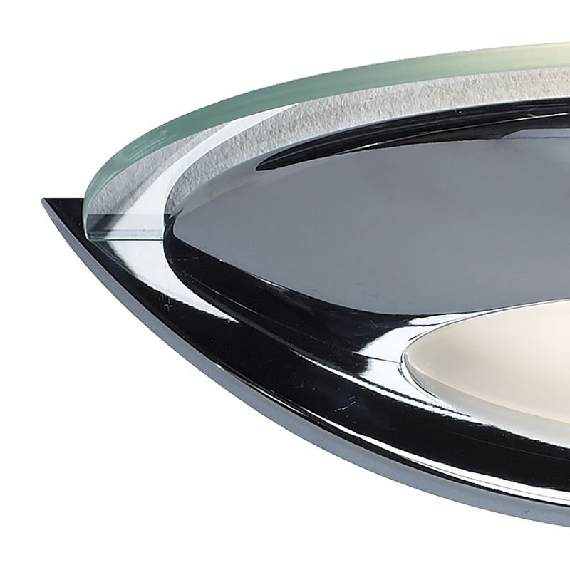 Dar-VIA0750 - Via - Polished Chrome with Opal Glass Wall Lamp