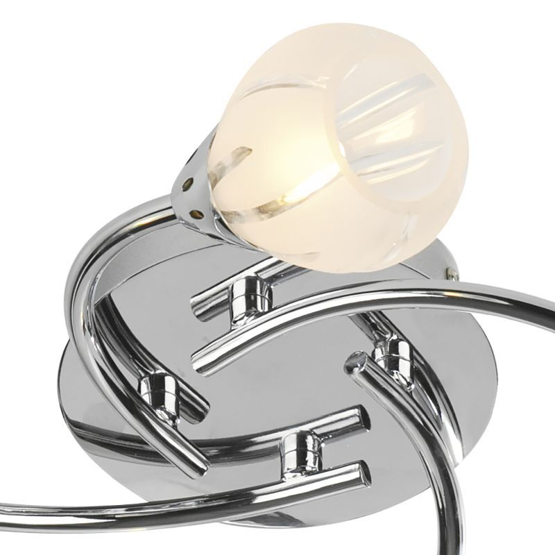 Dar-VIL0450 - Villa -Frosted Glass with Polished Chrom 4 Light Centre Fitting