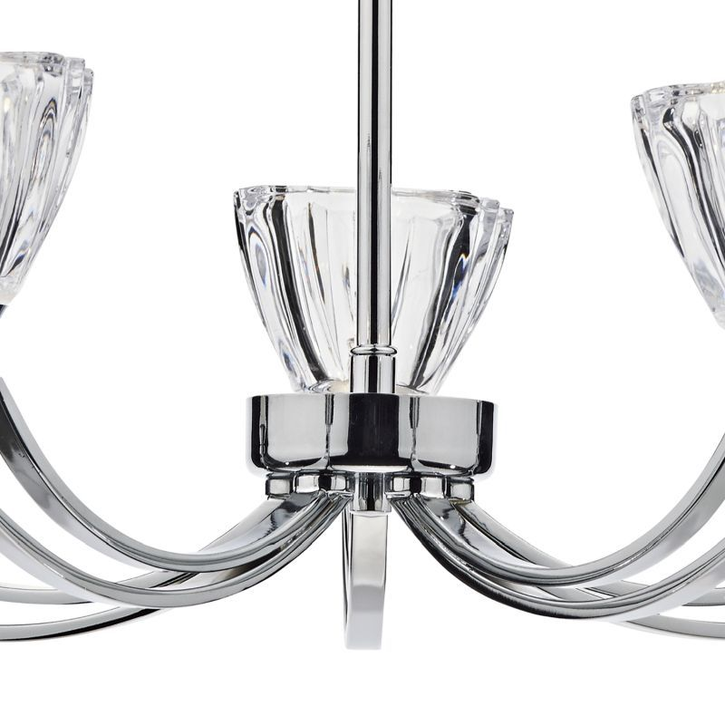 Dar-VIT0550 - Vito - Crystal Glass with Polish Chrome 5 Light Centre Fitting