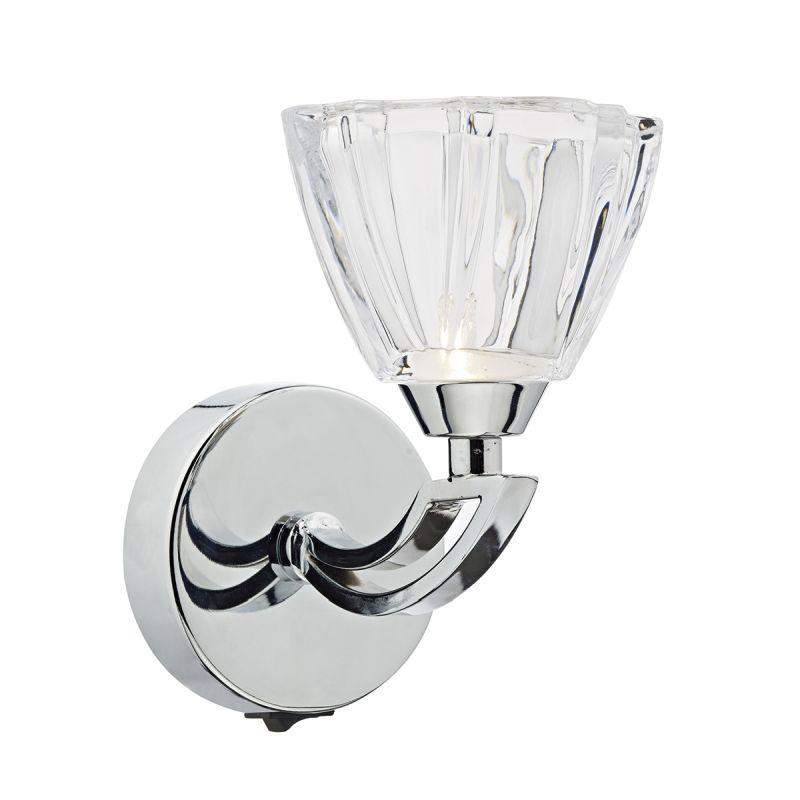 Dar-VIT0750 - Vito - Crystal Glass with Polish Chrome Single Wall Lamp