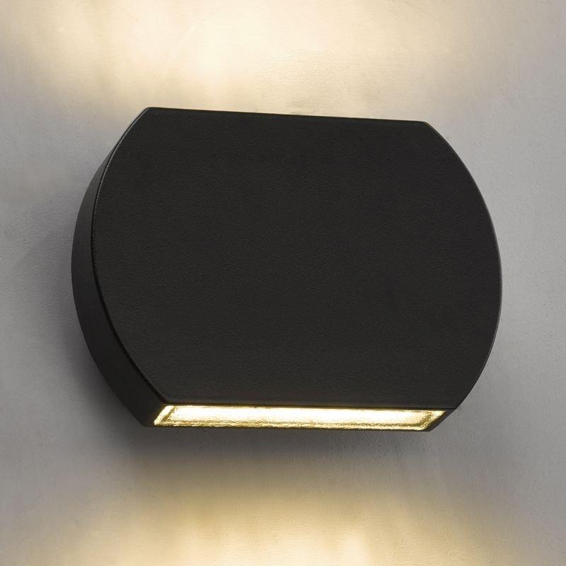 Dar-VUL2137 - Vulcan - Outdoor Gun Metal Grey Up&Down Wall Lamp