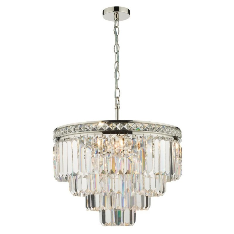 Dar-VYA0432 - Vyana - Crystal & Polished Nickel 4 Light Chandelier