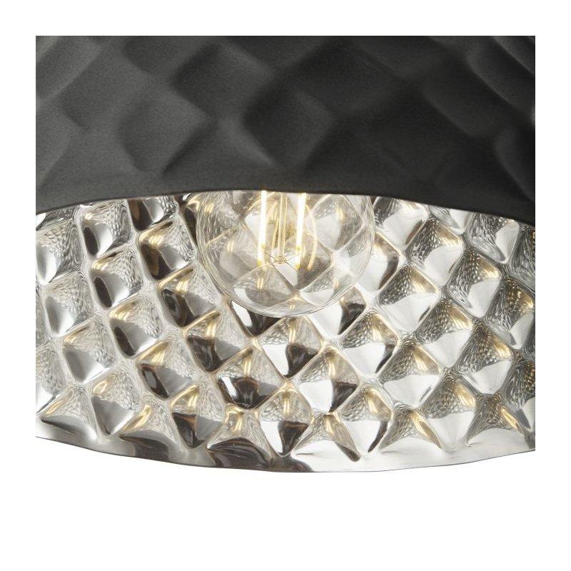 Dar-WAZ0139 - Wazir - Handmade Grey with Aluminium and Wood Pendant
