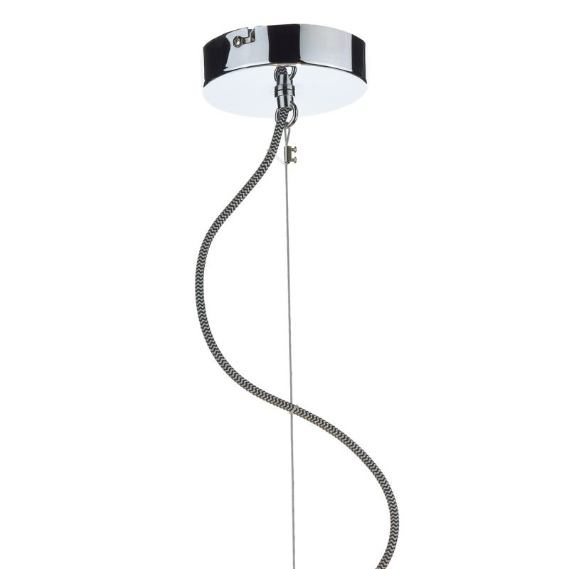 Dar-WHE0339 - Wheel - Grey Ribbon Fabric with Diffuser 3 Light Hanging Pendant