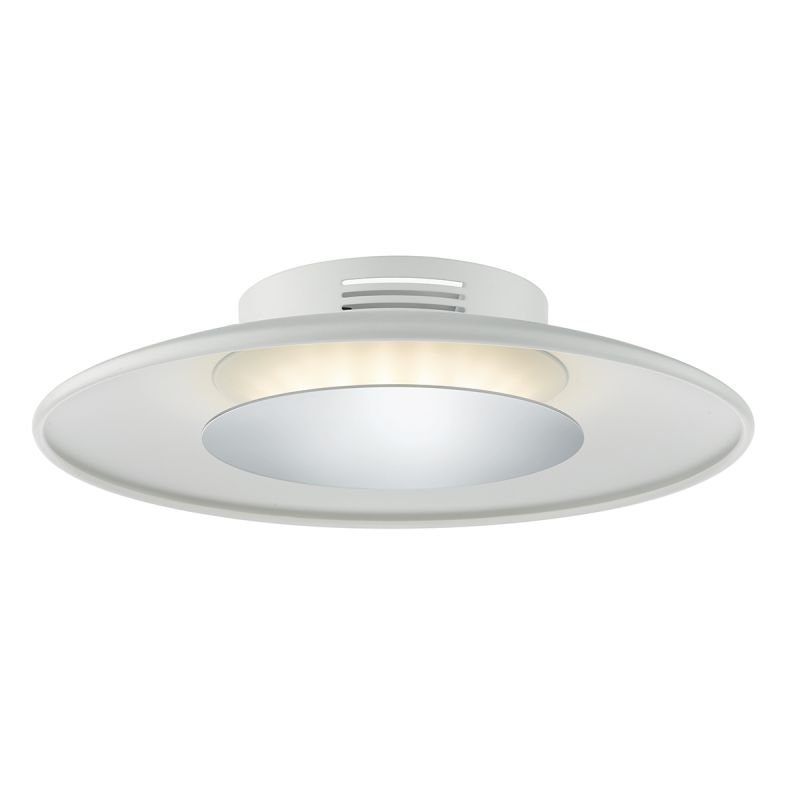 Dar-WOR522 - Worcester - Small LED White & Polished Chrome Ceiling Lamp