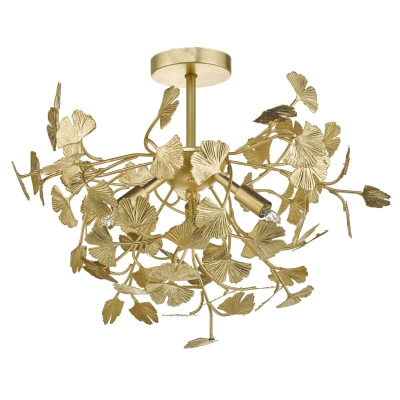 Dar-YAD0435 - Yadira - Gold Leaves 4 Light Ceiling Lamp
