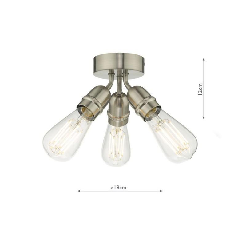 Wisebuys-YAO0338 - Yao - Satin Nickel 3 Light Flush