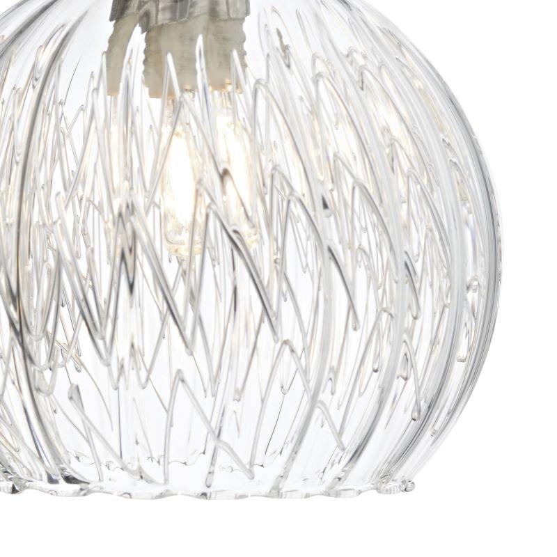 Dar-YAS0750 - Yasmin - Ribbed glass with Polished Chrome Single Wall Lamp