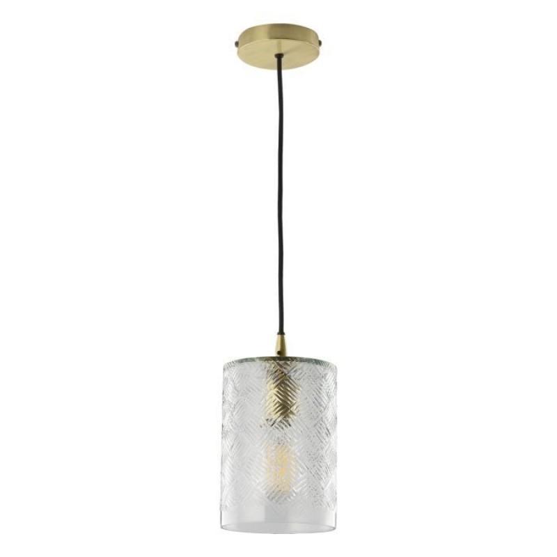 Dar-ZEC0140 - Zecchino - Decorative Glass with Matt Brass Pendant