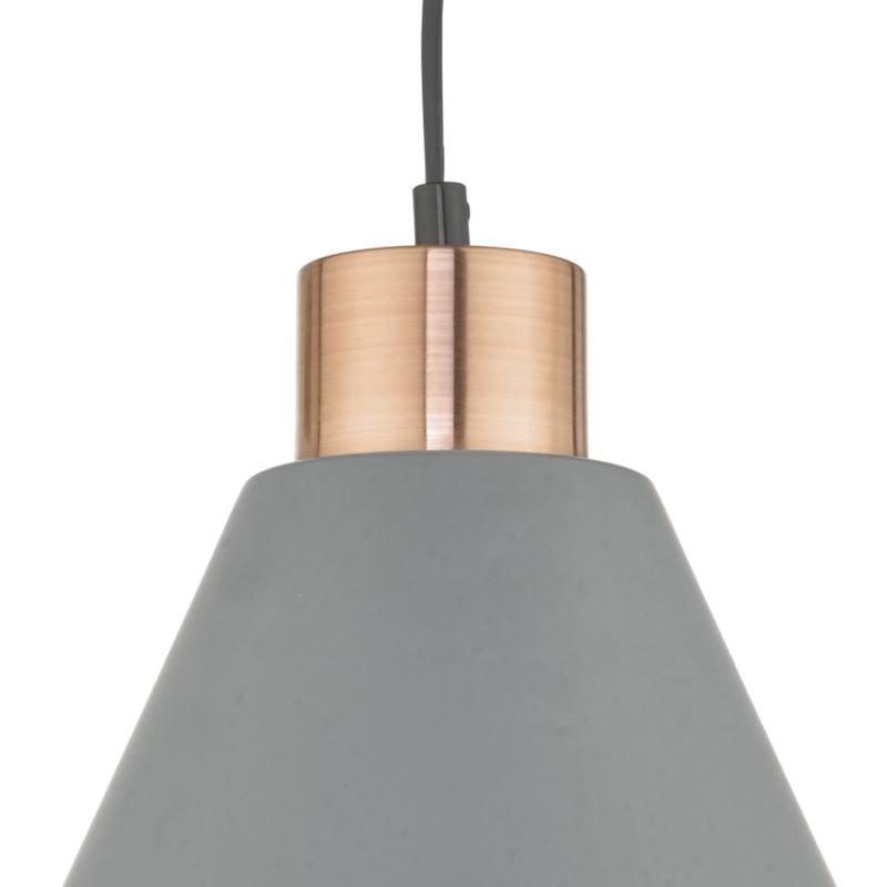 Dar-ZOC0139 - Zocalo - Matt Grey and Brushed Copper Hanging Pendant