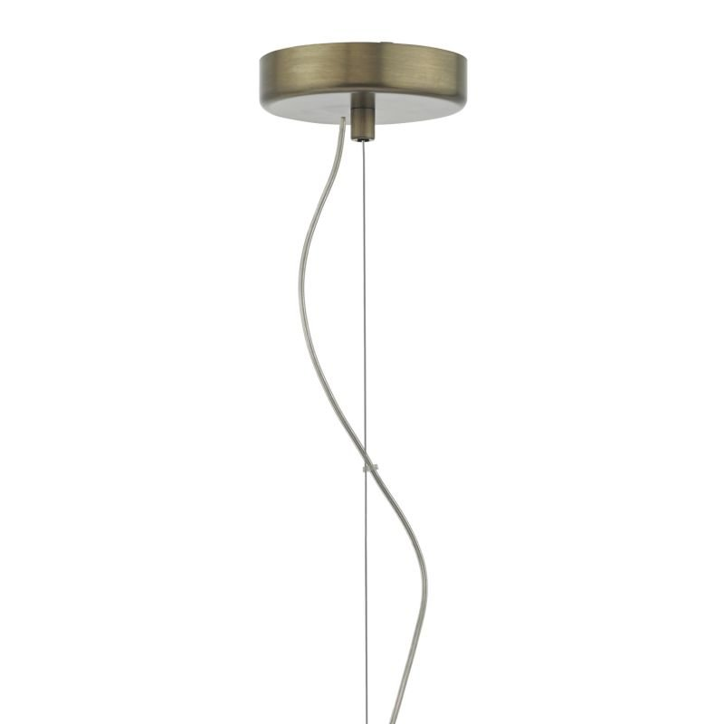 Dar-ZUL0163 - Zula - Transparent Glass with Aged Bronze Hanging Pendant