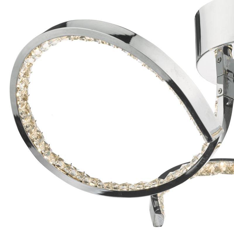 Dar-ZYA5350 - Zya - LED Crystal & Chrome 3 Light Ceiling Lamp