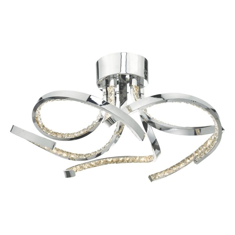 Dar-ZYA5450 - Zya - LED Crystal & Chrome 5 Light Ceiling Lamp