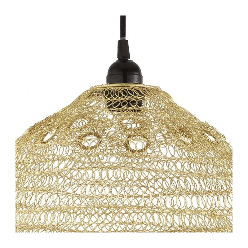Dar-API6535 - Apiary - Swirl and Looped Gold Shade for Hanging Pendant