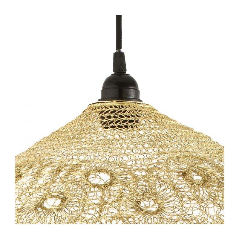Dar-KIK6535 - Kiki - Swirl and Looped Gold Shade for Hanging Pendant