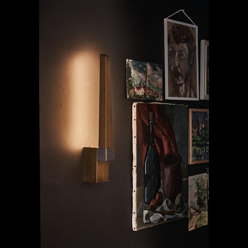 Dar-ROT0763 - Rotor - LED Bronze 1 Light Wall Lamp