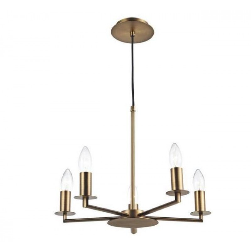 Dar-TYL0563 - Tyler - Decorative Rustic Bronze 5 Light Centre Fitting