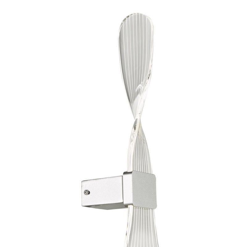 Dar-TWI0732 - Twist - LED Twist Acrylic & Silver Wall Lamp