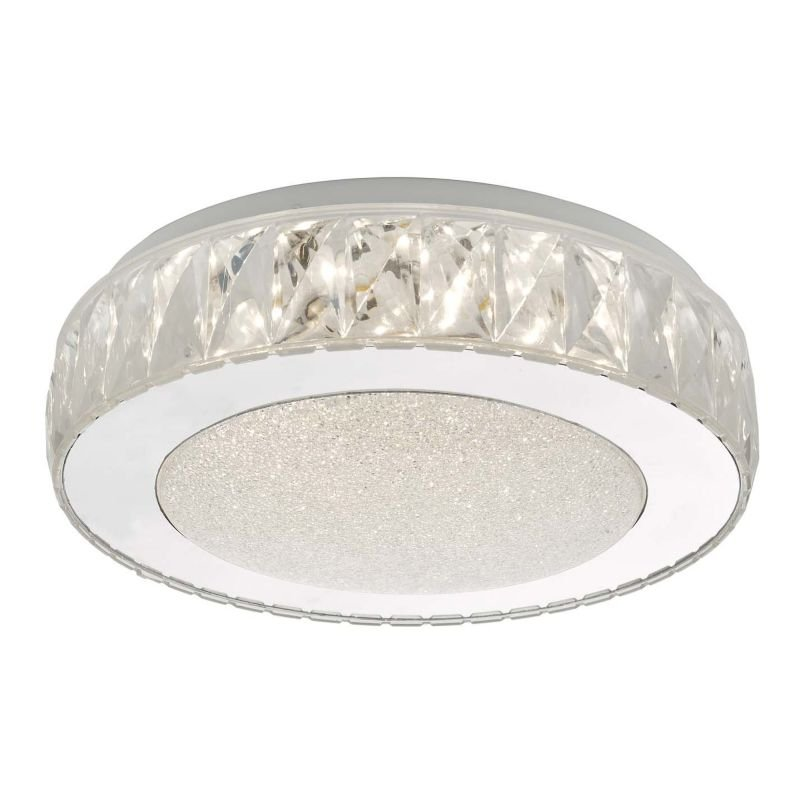 Dar-AKE5208 - Akelia - LED Crystal Acrylic & Stainless Steel Small Flush