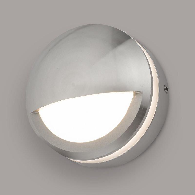Dar-AKO3268 - Akos - LED Polished Aluminium & White Eyelid Wall Lamp