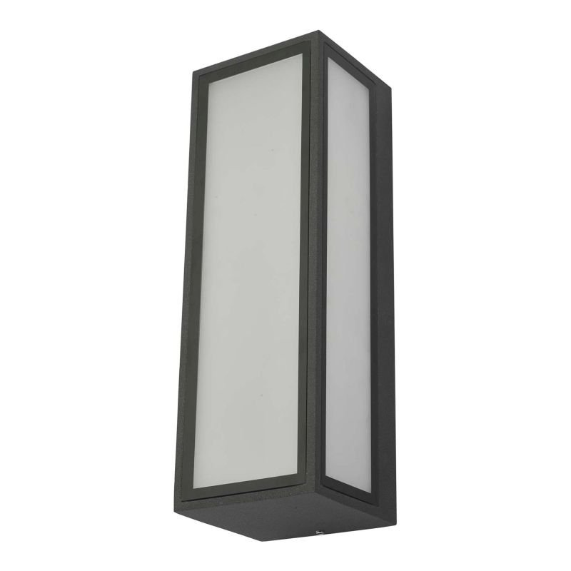Dar-ARH2139 - Arham - LED Anthracite & Frosted Glass Wall Lamp