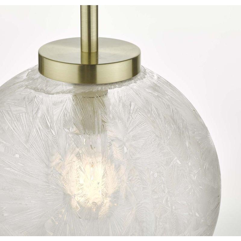 Dar-AVA0141 - Avari - Decorative Glass Globe with Satin Brass Pendant