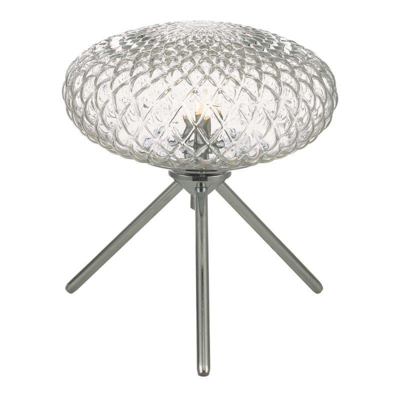 Dar-BIB4108 - Bibiana - Decorative Clear Glass with Chrome Small Table Lamp