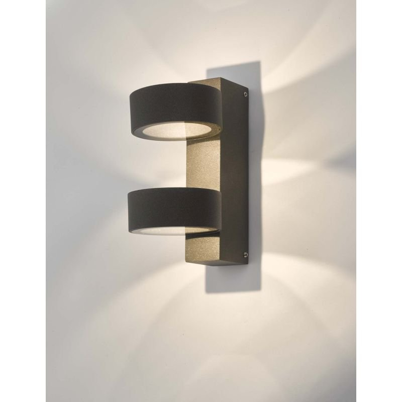 Dar-BOH0939 - Bohdan - LED Anthracite 2 Light Wall Lamp