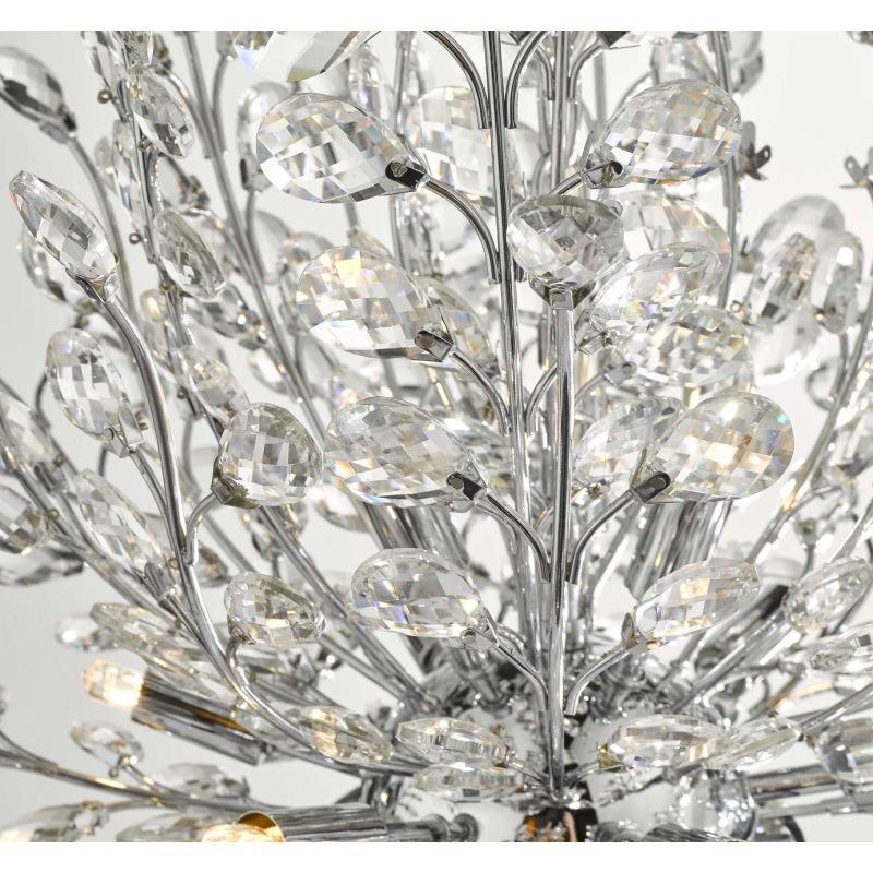 Dar-COR1350 - Cordelia - Crystal & Chrome Blossom Tree 9 Light Chandelier