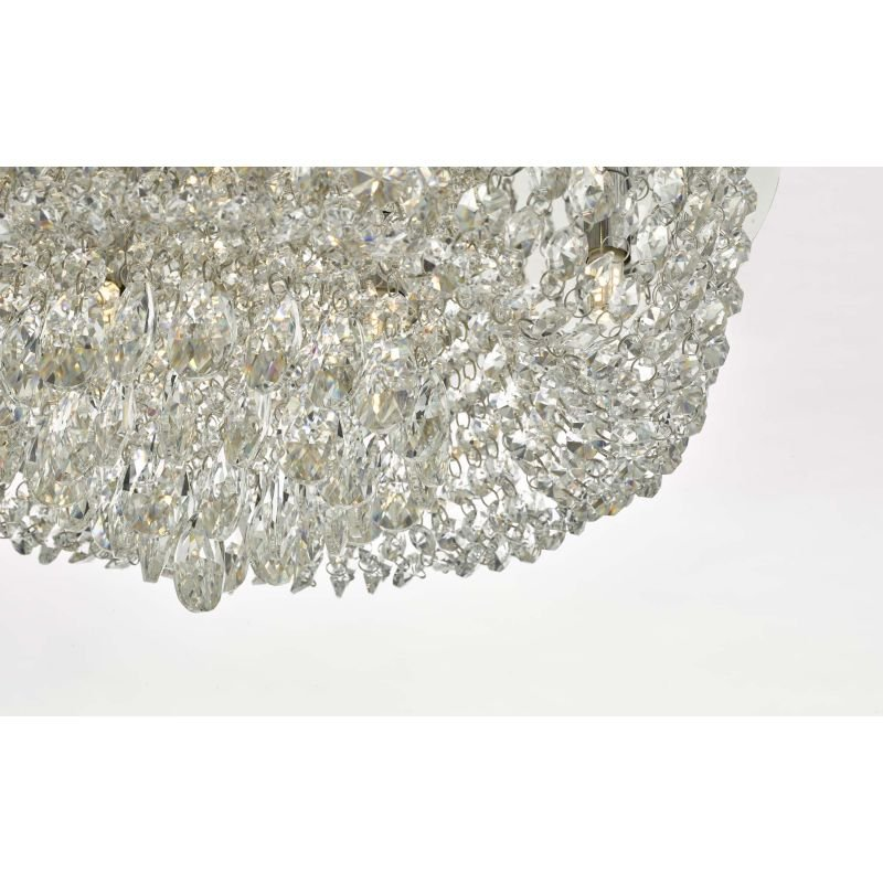 Dar-EIT5008 - Eitan - Crystal and Polished Chrome 9 Light Ceiling Lamp