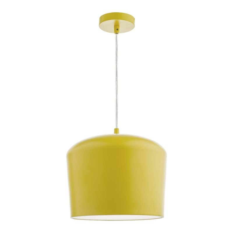 Dar-LEN0126 - Leno - Yellow with Frosted Diffuser Single Hanging Pendant