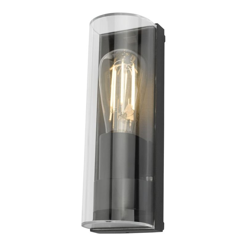 Dar-QUE1639 - Quenby - Outdoor Clear and Anthracite Wall Lamp