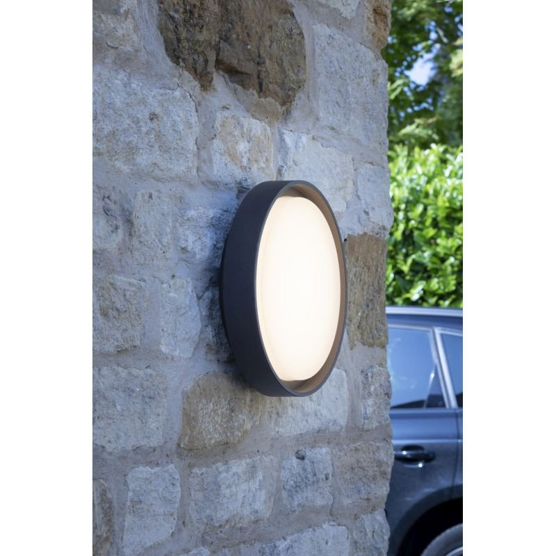 Dar-RAL5039 - Ralph - LED Anthracite Big Round Wall/Ceiling Lamp