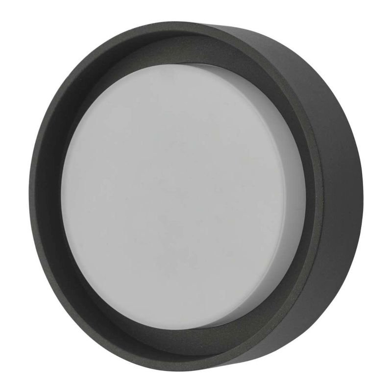 Dar-RAL5239 - Ralph - LED Anthracite Small Round Wall/Ceiling Lamp