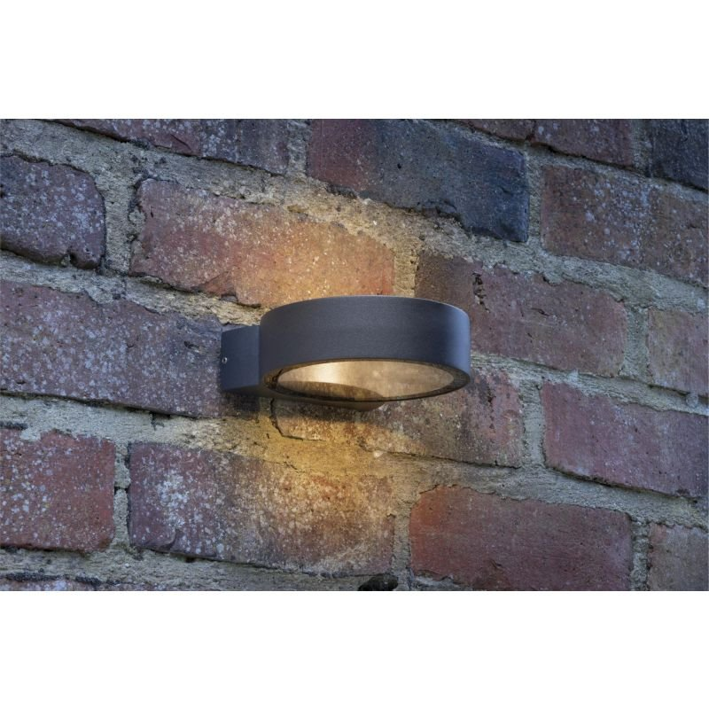 Dar-REO3239 - Reon - Outdoor LED Round Anthracite Wall Lamp