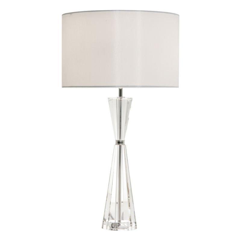 Dar-RIS4208 - Risha - Ivory Shade with Crystal & Nickel Table Lamp