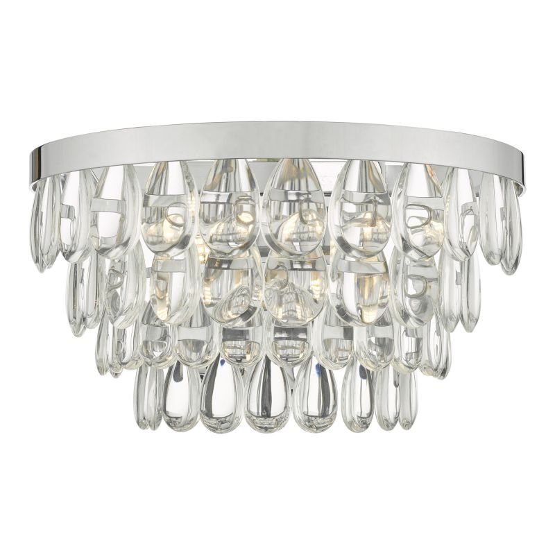 Dar-SCE0950 - Sceptre - Clear Glass & Polished Chrome Wall Lamp