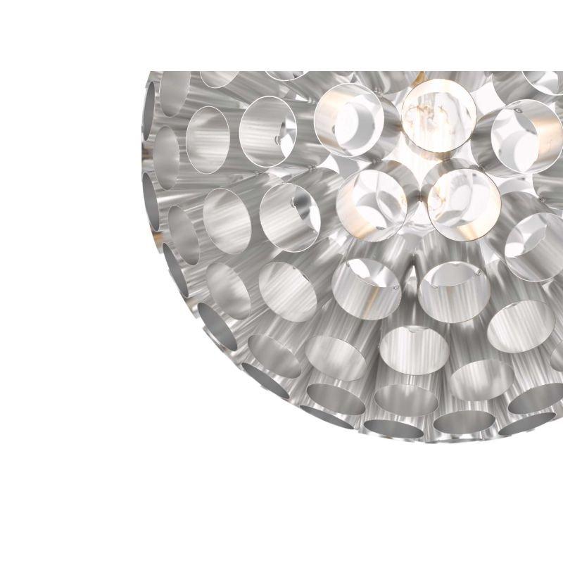 Dar-SER0150 - Serafina - Brushed Chrome Tubes Small 1 Light Pendant