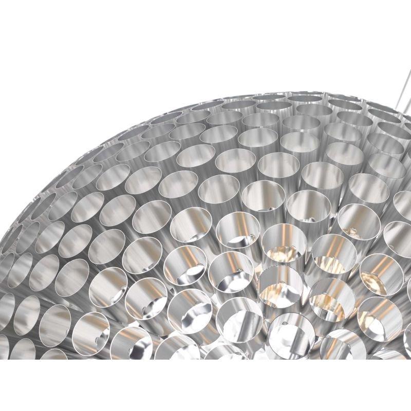 Dar-SER8650 - Serafina - Brushed Chrome Tubes Large 6 Light Pendant